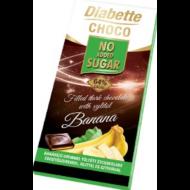 Diabette Nas banán ízű krémmel töltött étcsokoládé 80g /10/
