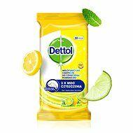 Dettol törlőkendő nedves 36 lap citrom&lime