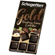 Schogetten Gold Étcsokoládé Nugátkrémmel és Mogyoróval 100g