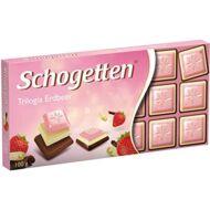 Schogetten Táblás Trilogia Strawberry 100g /15/