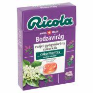 Ricola gyógynövényes cukorka 40g Bodzavirág