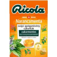 Ricola gyógynövényes cukorka 40g Narancsmenta