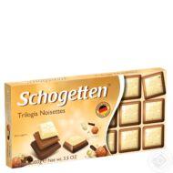 Schogetten csokoládé 100g Trilogia Noisettes