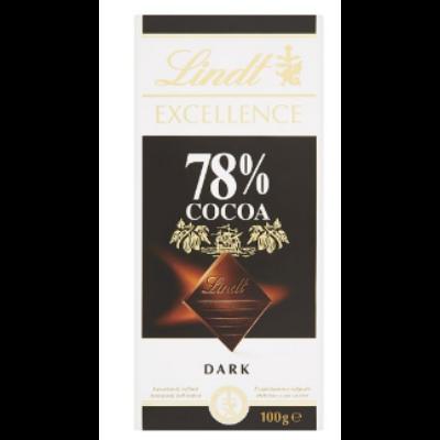 Lindt Excellence 78% Cocoa étcsokoládé 100g