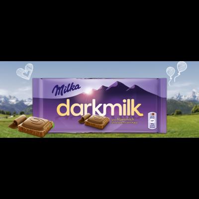Milka Táblás darkmilk Ét-Tej 85g /25/