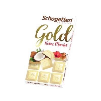 Schogetten Gold Fehércsokoládé Kókusszal és Mandulával 100g