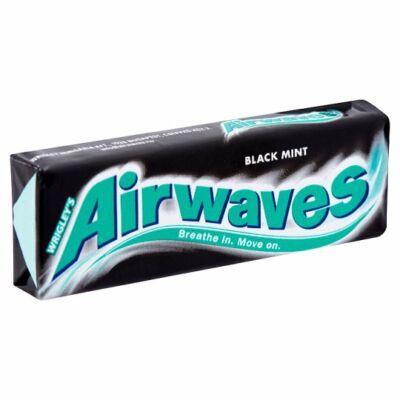 Airwaves rágó drazsé - black mint - 30-as csomag
