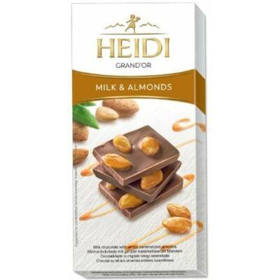Heidi Grand'or tejcsokoládé Egészmandula 100g