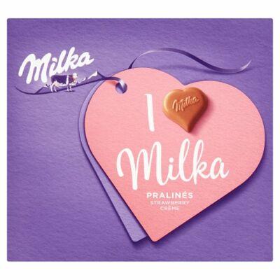 Milka I Love Epres krémtöltött 110g