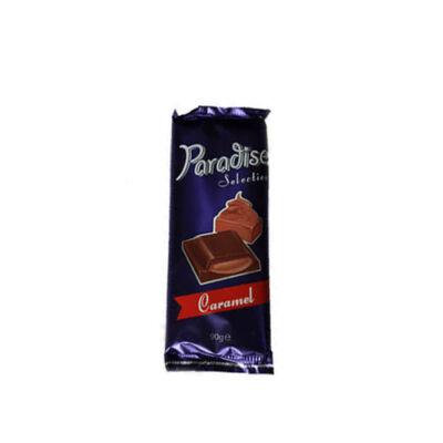 """Paradise kakaós tejtábla """"Caramel"""" ízű kr.90g"""
