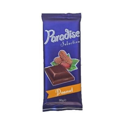 """Paradise kakaós tejtábla """"Peanut"""" tört földimogy.90gParadise kakaós tejtábla """"Peanut"""" tört földimogy.90g"""