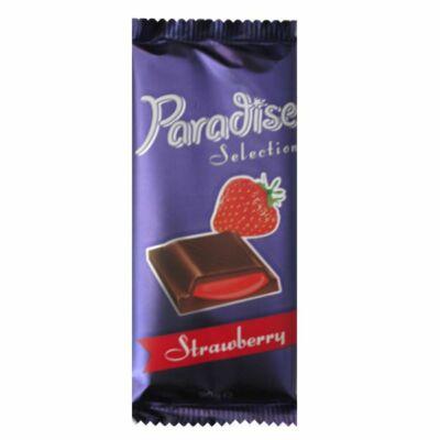 """Paradise kakaós tejtábla """"Strawberry""""eper ízű kr.90g"""