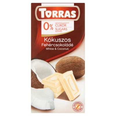 TORRAS FEHÉRCSOKOLÁDÉ KÓKUSZOS CM.GM. 75g