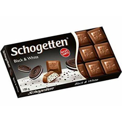 Schogetten csokoládé 100g Black&White Oreo