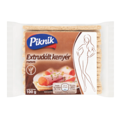 Piknik extrudált kenyér rozsos 100g /20/